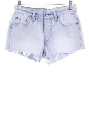 Levi's Shorts himmelblau Bleached-Optik