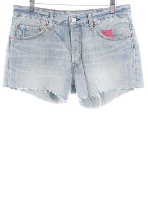 Levi's Shorts himmelblau Washed-Optik