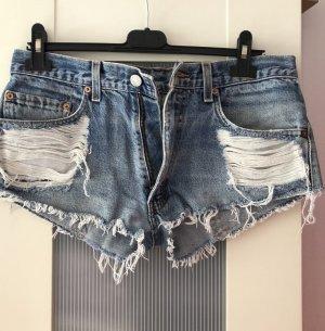 Levi's Shorts Hotpants Destroyed