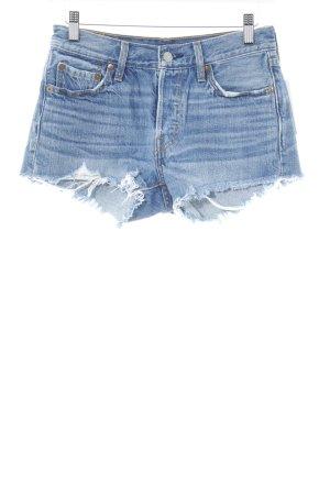 Levi's Shorts stahlblau Bleached-Optik