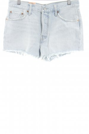 Levi's Shorts weiß-himmelblau Casual-Look