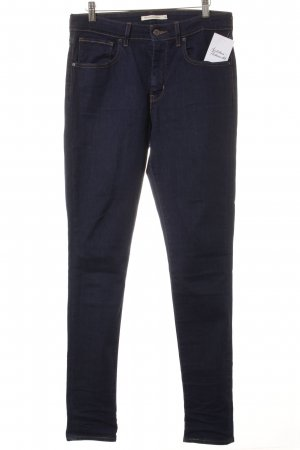 "Levi's Skinny Jeans ""702 High Rise Skinny"" dunkelblau"