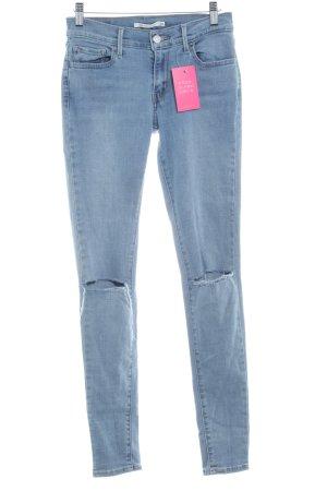 Levi's Skinny Jeans blassblau Destroy-Optik