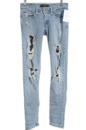 Levi's Skinny Jeans blau Destroy-Optik