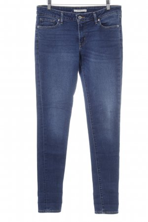 Levi's Skinny Jeans blau Washed-Optik