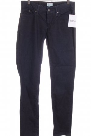 Levi's Skinny Jeans dunkelblau-hellblau Streifenmuster Street-Fashion-Look