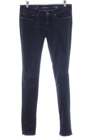 Levi's Skinny Jeans dunkelblau Logo-Applikation aus Leder