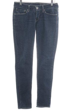 Levi's Skinny Jeans dunkelblau meliert Casual-Look