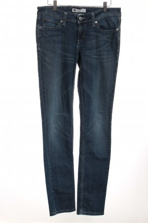 Levi's Skinny Jeans dunkelblau Washed-Optik