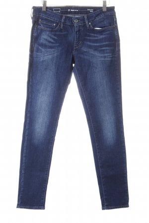 Levi's Skinny Jeans dunkelblau-wollweiß Washed-Optik