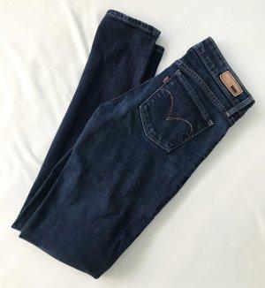 Levi's Jeans skinny bleu foncé-marron clair