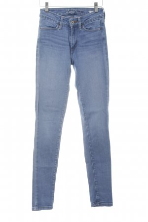 Levi's Skinny jeans lichtblauw straat-mode uitstraling