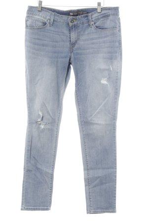 Levi's Skinny Jeans himmelblau Destroy-Optik
