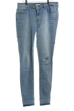 Levi's Jeans skinny bleu azur moucheté style déchiré