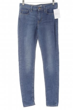 Levi's Skinny Jeans cornflower blue casual look