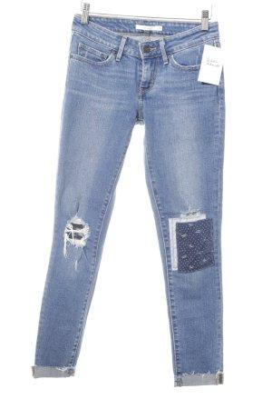 Levi's Skinny Jeans kornblumenblau Destroy-Optik