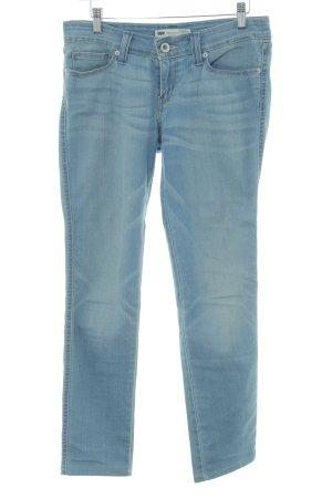 Levi's Skinny Jeans kornblumenblau Washed-Optik