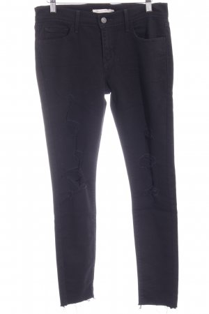 Levi's Skinny Jeans schwarz Biker-Look