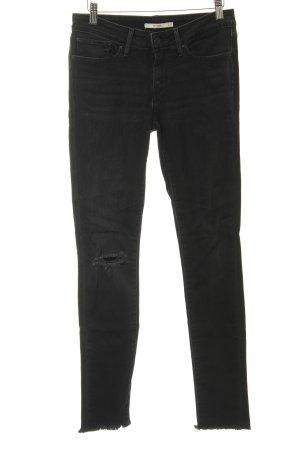 Levi's Skinny Jeans schwarz Destroy-Optik