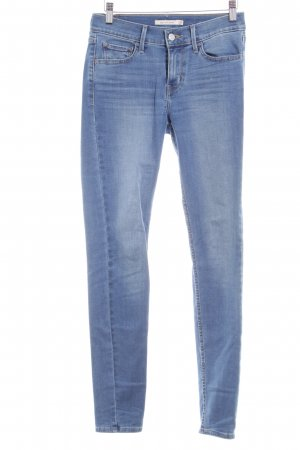 Levi's Skinny Jeans stahlblau Bleached-Optik
