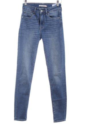 Levi's Skinny Jeans stahlblau-kornblumenblau Casual-Look