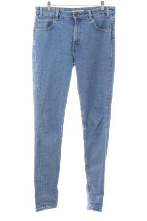 Levi's Skinny Jeans stahlblau-kornblumenblau Webmuster Casual-Look