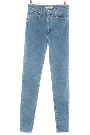 Levi's Skinny Jeans stahlblau meliert Casual-Look