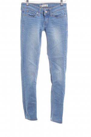 Levi's Skinny Jeans stahlblau meliert Jeans-Optik