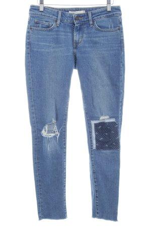 Levi's Skinny Jeans stahlblau Used-Optik