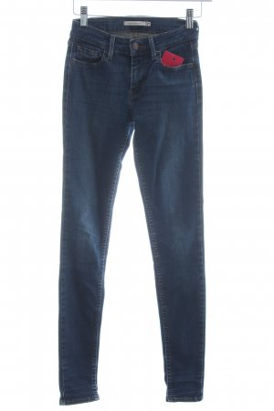 Levi's Skinny Jeans stahlblau Washed-Optik