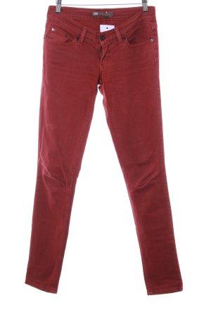 "Levi's Slim Jeans ""524 Too Superlow"" dunkelrot"