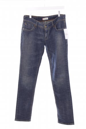 Levi's Slim Jeans blau-hellgelb Used-Optik