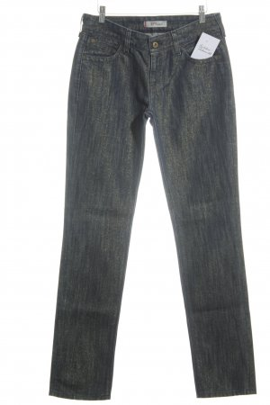 Levi's Slim Jeans dunkelblau-goldfarben Casual-Look