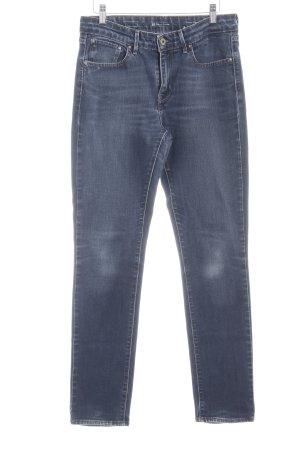 Levi's Slim Jeans dunkelblau-graublau Casual-Look