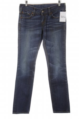 Levi's Slim Jeans dunkelblau-rostrot Casual-Look