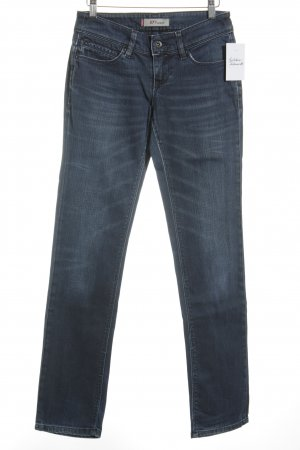 Levi's Slim Jeans dunkelblau Street-Fashion-Look