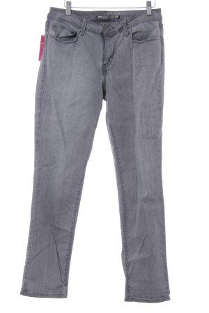 Levi's Slim Jeans dunkelgrau Casual-Look