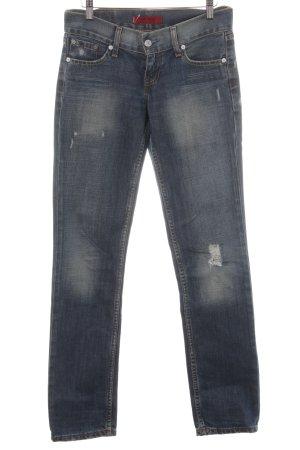 Levi's Slim jeans kleurvlekken patroon Jeans-look