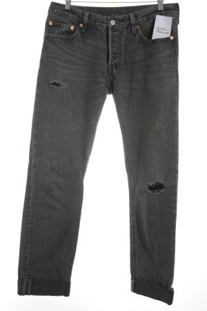 Levi's Slim Jeans grau Casual-Look