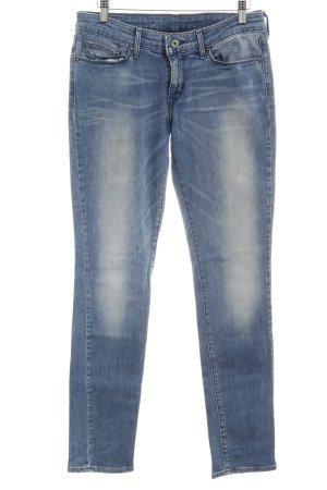 Levi's Slim Jeans kornblumenblau Casual-Look
