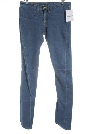 Levi's Slim Jeans kornblumenblau Street-Fashion-Look