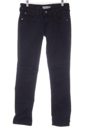 Levi's Slim Jeans schwarz Logo-Applikation aus Leder