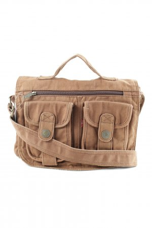Levi's Stoffen tas bruin casual uitstraling