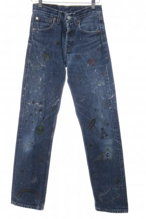 Levi's Straight-Leg Jeans blau grafisches Muster Casual-Look