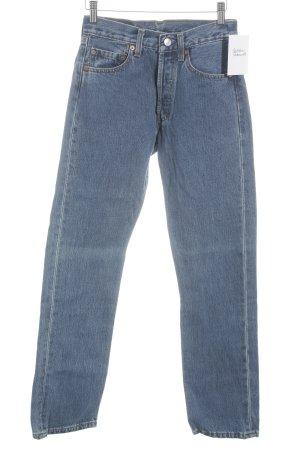 Levi's Jeans coupe-droite bleu-bleu acier style décontracté