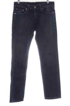 Levi's Straight-Leg Jeans dunkelblau Bleached-Optik