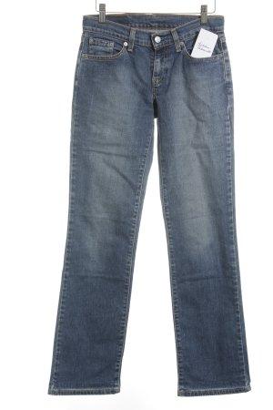 Levi's Straight-Leg Jeans dunkelblau-himmelblau Street-Fashion-Look