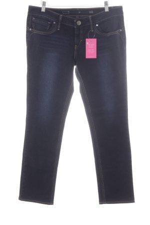 Levi's Straight-Leg Jeans dunkelblau Logo-Applikation