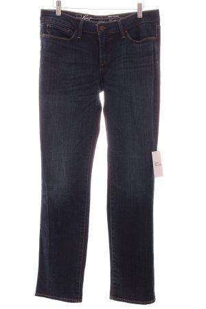 Levi's Straight-Leg Jeans dunkelblau Metallelemente