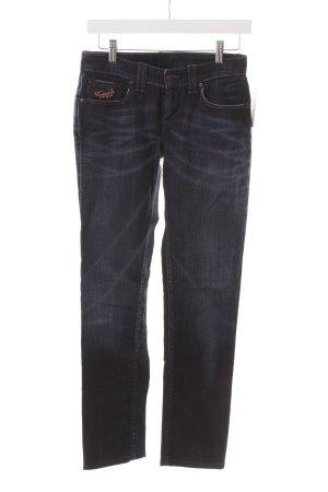 Levi's Straight-Leg Jeans dunkelblau-orange Casual-Look
